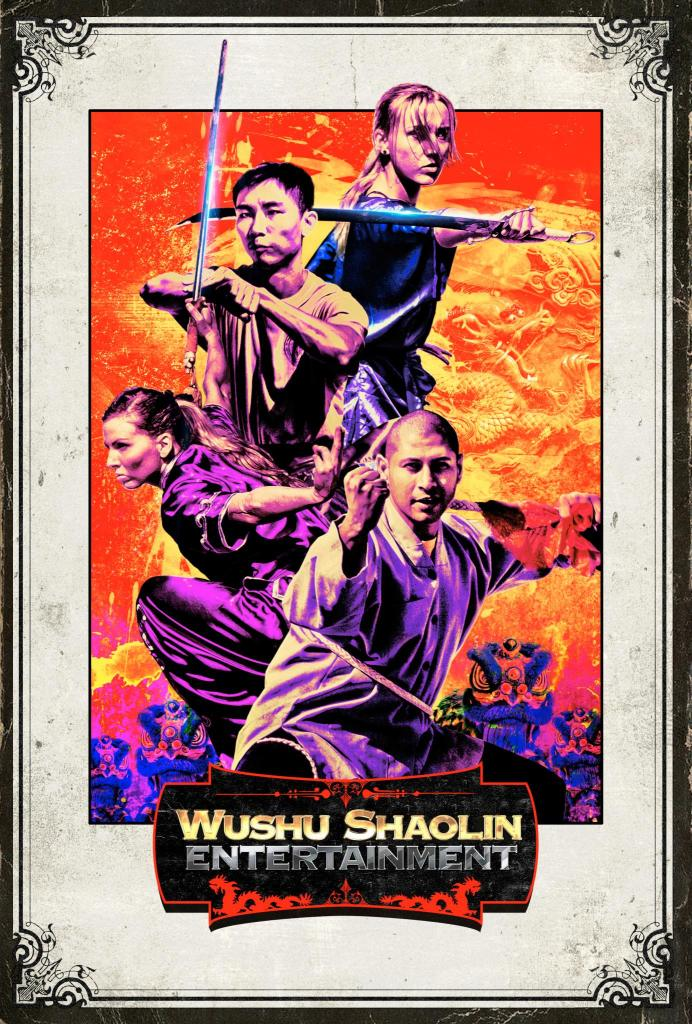 Lion Dance Poster - Wushu Shaolin Entertainment