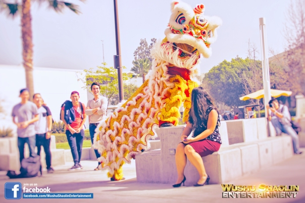 The Lion Dancers very often interact with students and faculty working to evoke smiles and joy from everyone. It is a very delightful experience for all people.